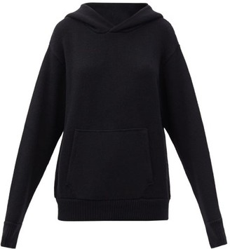 LES TIEN Hooded Cashmere Sweater - Black