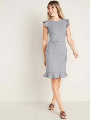 Old Navy Ruffled Ponte-Knit Sheath Dress for Women