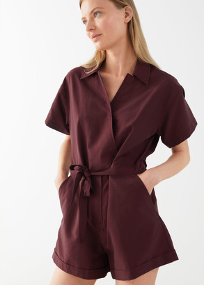 And other stories Drawstring Waist Lyocell Jumpsuit