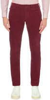 Armani Jeans J45 slim-fit tapered mid-rise corduroy jeans