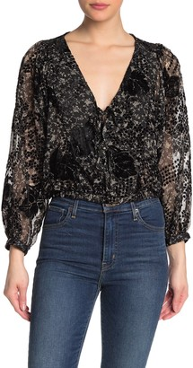 ASTR the Label Shawna Floral Blouse