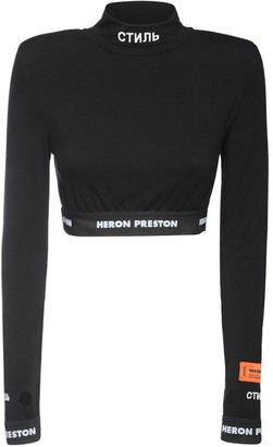 Heron Preston Ctnmb Cropped Jersey Top