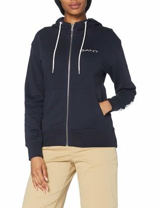 Gant Women's D1. 13 Stripes Full Zip Hoodie Hooded Sweatshirt