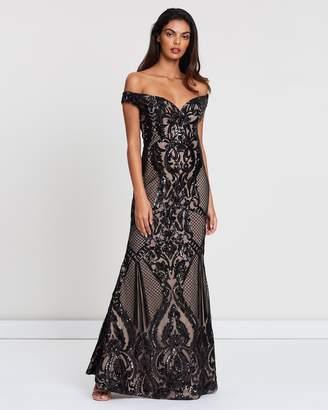 Romance By Honey And Beau Maya Off-Shoulder Maxi Dress