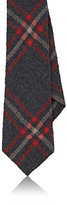 Alexander Olch MEN'S PLAID WOOL CREPE NECKTIE