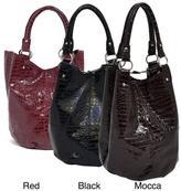 McKlein Parinda Women's Adria Croco Embossed Faux Leather Travel Tote