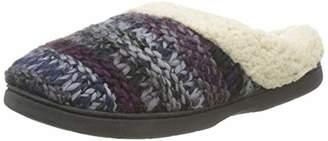 Dearfoams Women's Chunky Knit Clog Open Back Slippers,38/39 EU