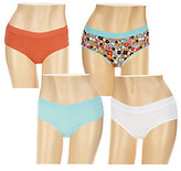 Jockey Moves with You Cotton Blend Hipster Panties Set of 4