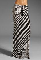 Testament Fender Stripe Maxi Skirt with Fringe Tassel