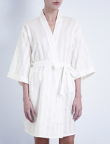 Bodas Shadow Stripe cotton robe