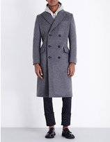 Junya Watanabe Double-breasted wool and cashmere-blend coat