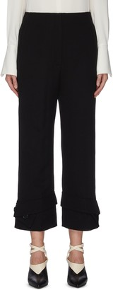 3.1 Phillip Lim Button cuff flared tailor pants