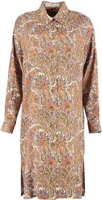 Etro Printed Wool-silk Blend Shirtdress