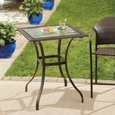 Bed Bath & Beyond Stratford Wicker and Glass Balcony Table