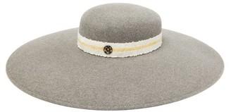 Maison Michel Bianca Wide-brim Felt Hat - Womens - Grey