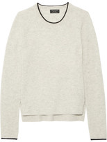 Rag & Bone Lilana Ribbed Cashmere Sweater - Light gray