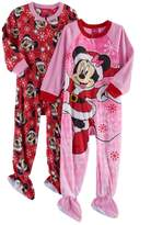 Disney Disney's Minnie Mouse Toddler Girl 2-pk. Christmas Fleece Footed Pajamas