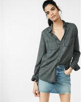 Express Silky Soft Twill Boyfriend Shirt