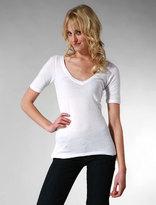 Short Sleeve V in White