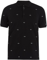 Fendi Bag Bugs-embroidered cotton-piqué polo shirt