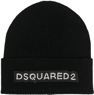 DSQUARED2 Crystal-Embellished Beanie