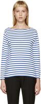 Saint Laurent Blue & White Striped T-Shirt