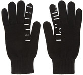Unravel Black Cashmere Tattoo Gloves