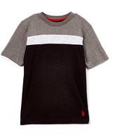 U.S. Polo Assn. Black Chest-Stripe Short-Sleeve Tee - Boys