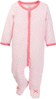 Absorba Pink Daisy Footie (Baby Girls)