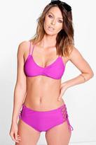Boohoo Nevada Mix And Match Strappy Bikini Top