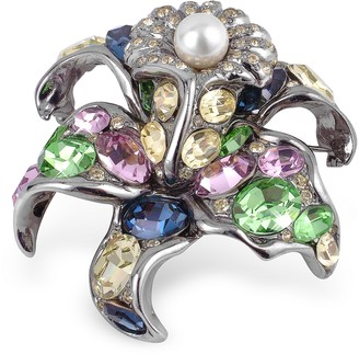 A-Z Collection Multicolor Flower Brooch