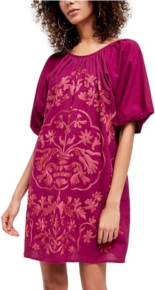 Free People Fiona Embroidered Minidress