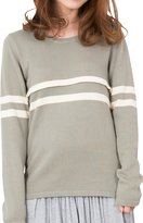 Sweet Mommy Maternity and Nursing Organic Cotton Sweater In Placement Stripe NVM