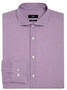 HUGO BOSS Boss Mark Graph Check Regular Fit Dress Shirt