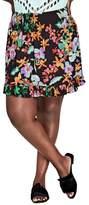 City Chic Molokai Floral Skirt