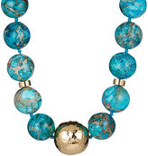 Nest Blue Jasper Horn Pendant Necklace