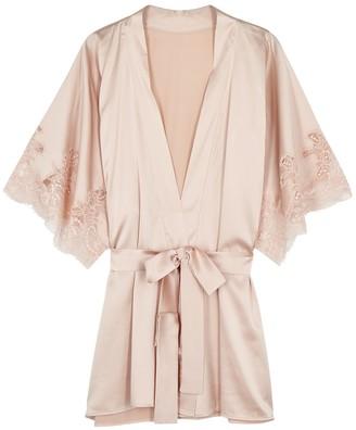 Fleur of England Signature Blush Silk-blend Robe