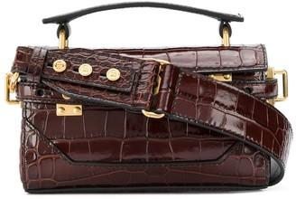 Balmain Crocodile-Effecte Mini Tote Bag