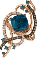LeVian Le Vian Exotics® Deep Sea Blue TopazTM (5-3/8 ct. t.w.) and Diamond (3/4 ct. t.w.) Ring in 14k Rose Gold