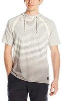 Buffalo David Bitton Men's Nanielot Dip Dye Stripe Hooded T-Shirt