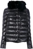 Herno fox fur collar jacket - women - Cotton/Feather Down/Fox Fur/Acetate - 40