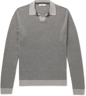 Mr P. Melange Cotton-Pique Polo Shirt