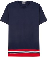 Moncler Navy Striped Cotton T-shirt