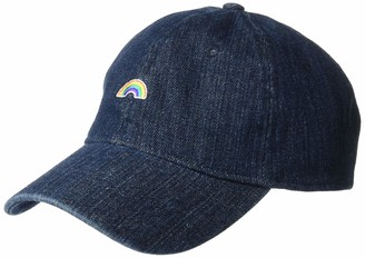 Concept One Unisex-Adult's Denim Rainbow Baseball Cap One Size