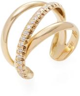Janis Savitt Women's 18K Yellow Gold & 0.40 Total Ct. Diamond Crossover Cuff Ring