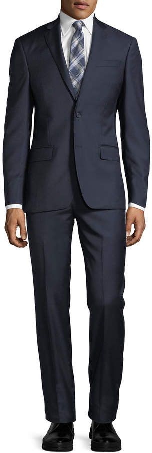DKNY Solid Twill Two-Piece Wool Suit