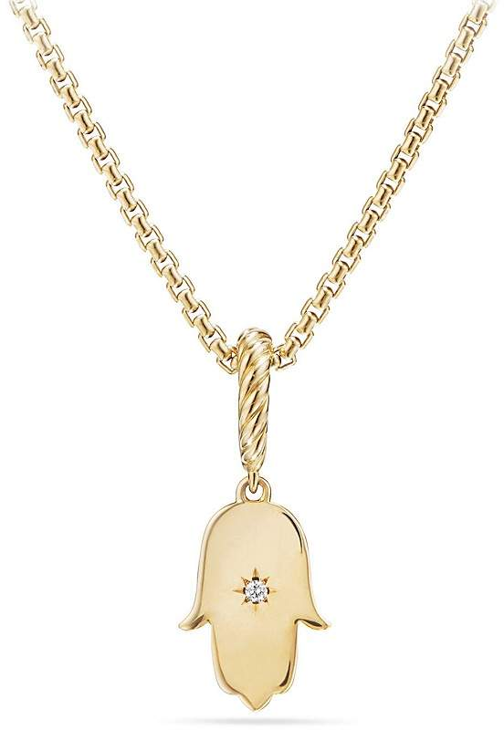 David Yurman Hamsa Amulet with Diamonds in 18K Gold