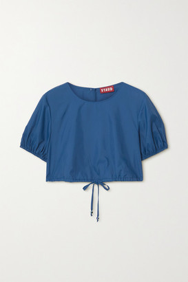 STAUD Prato Cropped Recycled Shell Top - Blue