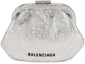 Balenciaga Cloud Coin Purse in Silver | FWRD