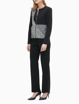 Calvin Klein Patchwork Zip-Front Jacket